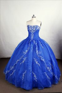 Appliques Royal Blue Ruching Quinceanera Dresses in Fremantle