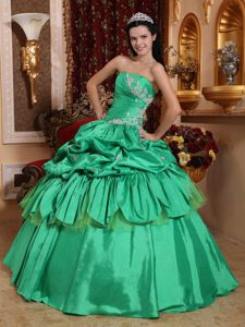 17c9049f95 Pick ups and Appliques Accent Dresses for 15 in Spring Green 2013
