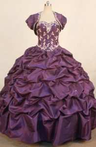 Sweetheart Appliques and Pick-ups Quinceanera dress in Dark Purple