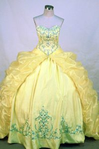 Appliques and Beading Sweetheart Quinceanera Dresses with Pick-ups