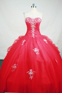 Hot Pink Sweetheart Ruching Beading and Appliques Sweet 15 Dresses