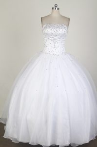 Elegant White 2013 Spring Quinceanera Ball Gown for Cheap