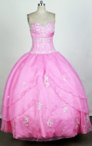 Layered Skirt 2013 Cute Pink Sweet 16 Dress for Cheap