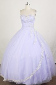 Fashionable Lilac Sweetheart Quinceanera Dress with Appliques