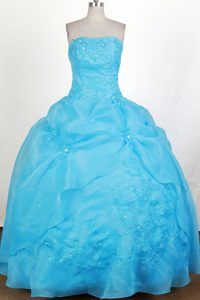 Modest 2013 Aqua Blue Bubble Quinceanera Gown in Florida