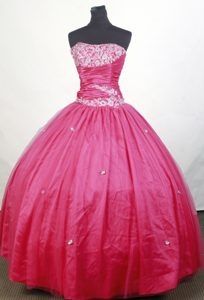Romantic for Cheap 2013 Spring Hot Pink Quinceanera Gown