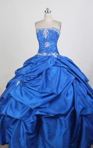 With Chic Pick-ups 2013 Pretty Royal blue Sweet 16 Dress