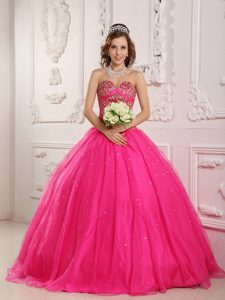 Hot Pink Quinceanera Dresses | Hot Pink 15 Dresses - Magic Quinceanera