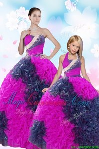 Multi-color Ball Gowns Sweetheart Sleeveless Taffeta Floor Length Lace Up Sequins and Pick Ups Sweet 16 Quinceanera Dress