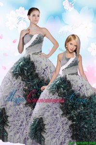 Luxury Sleeveless Lace Up Floor Length Sequins and Pick Ups Sweet 16 Quinceanera Dress